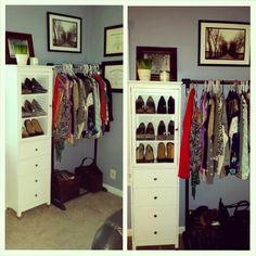 When you outgrow your closet...you make a bigger one :)