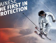 DAINESE WINTER SPORT SAFETY  (28/04/2011)  DAL FRAGORE AL SILENZIO, MA SEMPRE IN PISTA  La neve, la natura, il silenzio. Un modo inconsueto di essere Dainese, ma un modo consueto di sentirsi protetti e di poter quindi esprimere al meglio le proprie abilità sportive.  Innovazione e tecnologia sono i vantaggi riconosciuti da chi sceglie Dainese anche sulla neve, raccontati in un poster con 18 immagini storiche. Dainese always the first.