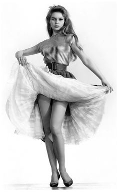Brigitte Bardot / photo by Sam Levin. Brigitte Anne-Marie Bardot is a French former actress, singer, and fashion model, who later became an animal rights activist. She was one of the best known sex symbols of the 1950s and 1960s, and was widely referred to simply by her initials. Wikipedia