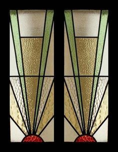art deco fan stained glass - Google Search
