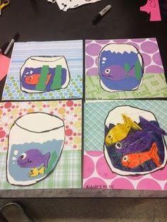Jamestown Elementary Art Blog: Second grade Henri Matisse fish collage