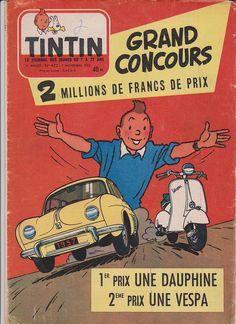 Revista Tintin 1957 - Dauphine y Vespa