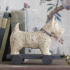 Scottie dog on wheels