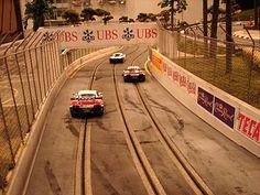Slot cars race track.