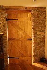Ledged and braced doors: A classic example of a 'traditional' door that is experiencing a contemporary revival in all types of home. Traditional Doors, Contemporary Classic, Internal Doors, Types Of Houses, Tall Cabinet Storage, Floors, Stairs, Windows, Furniture