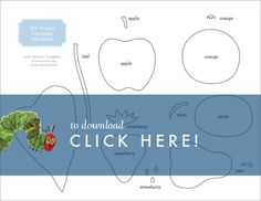I promised you a printable from Emmett's party , so here it is! If you're looking to make your own Very Hungry Caterpillar felt book,...