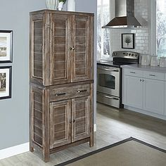 Rustic wood pantry