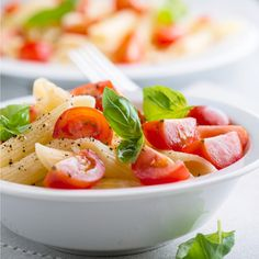 Tomato basil pasta salad. Perfect for summer. #recipe