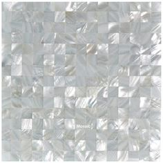 2.0 Seamless Pure White Sea Shell Mosaic Tile for DIY Kitchen Backsplash Bathroom Bathtub Showroom Counter Backdrop Wall Sticker