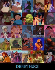 Disney Hugs by ~nuts4books9 on deviantART
