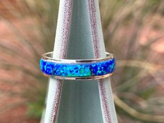 Size 9 Fire Opal Zuni Inspired Inlay Ring One of a Kind Rainbow Ring Sterling Silver Geometric Multicolor Gemstone Inlay Jewelry