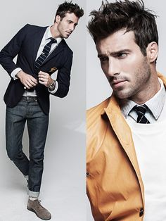 Debonair Style–Photographer Sonny Tong hits the studio with Click New York model Justin Clynes, showcasing sharp modern styles. Gents Fashion, Fashion Moda, Suit Fashion, Male Fashion, Sharp Dressed Man, Well Dressed Men, Justin Clynes, Mens Trends, Gq Style