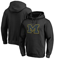 Michigan Wolverines Fanatics Branded Taylor Big & Tall Pullover Hoodie - Black