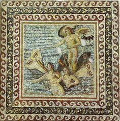 Boat of the Psyches mosaic - Antakya