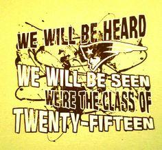 Class of 2015 tshirt design
