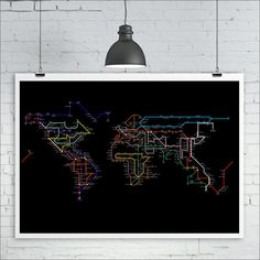 World map poster a subway map tube map metro map of the world items similar to a subway map tube map metro map of the world map art print or black background subway art print on etsy gumiabroncs Images