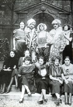 Paul Poiret and his staff in fancy dress