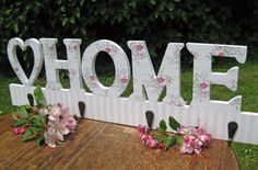 Home Floral Wooden Coat Hook. 50% off! Was £11.99 now just £5.99!