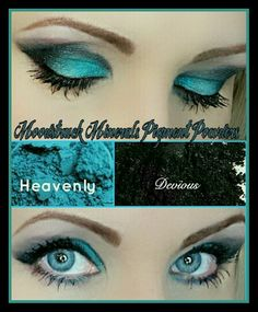 Younique mineral eye pigments Heavenly and Devious