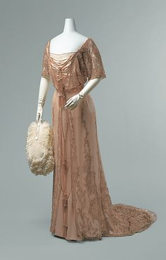 1910 Evening Gown - this is my favorite era of fashion always so feminine and delicate with lots of embroidery and detail :)