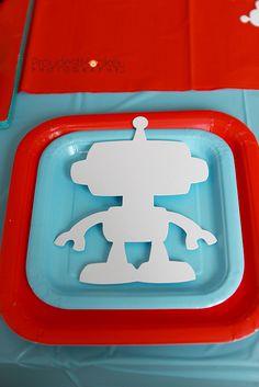 robot craft outline shape