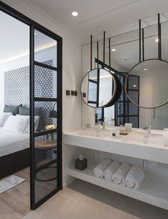 60 awesome open bathroom concept for master bedrooms decor ideas Hotel Bathroom Design, Bathroom Interior, Hotel Bathrooms, Small Bathrooms, Bathroom Renovations, Barcelona Hotels, Barcelona Spain, Bad Inspiration, Bathroom Inspiration
