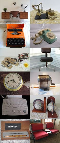~ RETRO OFFICE ~  by Terese on Etsy--Pinned+with+TreasuryPin.com