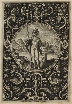 adriaen collaert - minerva (ca. 1690) from the judgement of paris series.