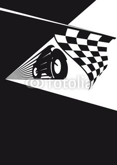 Checkered flag in motorsport drawn with Adobe Illustrator CS6  Zielflagge im Motorsport gezeichnet mit Adobe Illustrator CS6