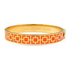 Halcyon Days - Mosaic Orange & Gold Bangle | Peter's of Kensington