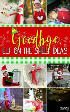 Goodbye Elf on the Shelf - Elf is headed to the North Pole. Eighteen creative a ways to say goodbye to your elf on their last night. Elf is headed to the North Pole. Eighteen creative a ways to say goodbye to your elf on their last night. Elf On The Shelf, Shelf Elf, Christmas Garden, Christmas Holidays, Christmas Crafts, Christmas Morning, Xmas, Christmas Activities, Christmas Traditions