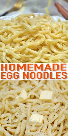 Turn 5 simple ingredients into show-stopping homemade egg noodles in a matter of minutes! Start to finish, this pasta recipe is done in under dinner no cook Easiest Homemade Egg Noodles You'll Ever Make Egg Noodle Recipes, Milk Recipes, Cooking Recipes, Ham Recipes, Egg Noodle Dough Recipe, Sausage Recipes, Steak Recipes, Chicken Recipes, Icing Recipes