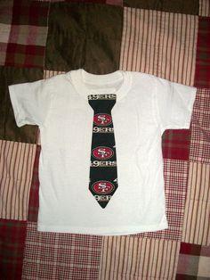 49ers baby NFL tie onesie or shirt by www.tadalyndesign.etsy.com