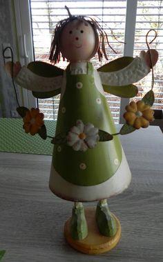 **Frühlings-Fee/Elfe/Engel/Mädchen mit Blumen * Deko-Figur * Natur * Frühling** in Möbel & Wohnen, Dekoration, Dekofiguren | eBay