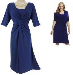 XL X-LARGE SEXY Womens Elegant BLUE CHAPS TWIST DRESS Evening Wedding Cocktail #Chaps #TwistFront #Versatile