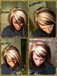 Dark with carmel instead of blonde.