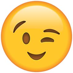 Flirt or tease with ease with this winking emoji that's wearing a happy smile. Emoji Images, Emoji Pictures, Emoji Stickers, Snapchat Stickers, Free Emoji Printables, Emoji Drawings, Emoji Cake, Emoji Wallpaper, Happy Smile