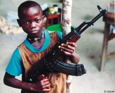 Many children who should be at school are recruited to fight as child soldiers They were beaten, raped, or forced to commit atrocities during the decades of conflicts, by the rebel group of the Lord's Resistance Army(LRA).