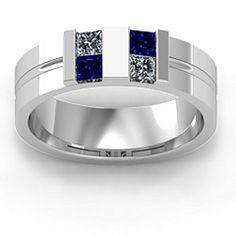 Leonidas Grooved Men's Ring jewlr