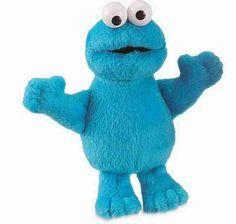 Gund's Seame St Beanie 'Cookie Monster'.