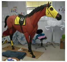 Walking or Running Race Horse, Life Size