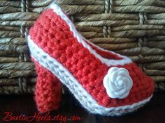 Crochet Pattern for Bootie Heels stiletto baby by BootieHeels, $6.99