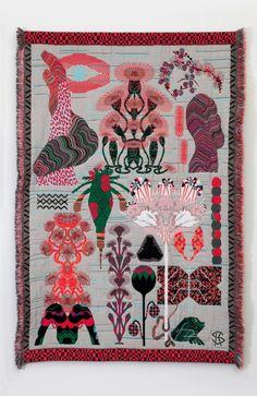 "softpyramid: ""Kustaa Saksi Herbarium of Dreams 2013 Jacquard Weave, Edition of 6 243 x 170 cm """