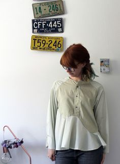 Paitapuserokombo / Me-Made-May day eleven Denim, Day, Upcycle, Jackets, Shirts, Clothes, Vintage, Sewing, Inspiration
