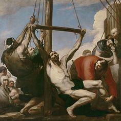 Jusepe de Ribera - The Martyrdom of Saint Philip circa 1639 oil on canvas 234 × 234 cm × in) Prado Baroque Painting, Baroque Art, Art Through The Ages, Spanish Painters, Classic Paintings, Painting Gallery, Oil Painting Reproductions, Caravaggio, Art And Architecture