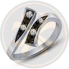 Black & White Diamond Pure 925 Sterling Silver Bypass Adjustable Toe Ring  #parasexports