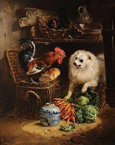 By Henriette Ronner-Knip Beautiful Cats, Beautiful Artwork, Animals Beautiful, Cute Animals, Dog Artwork, Chicken Art, Animal Paintings, Lovers Art, Art History
