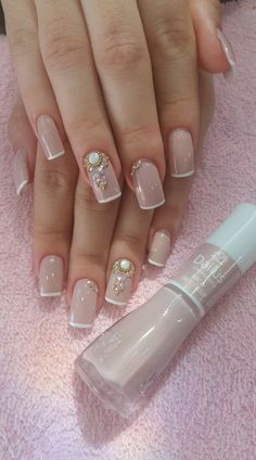 New Unique French Manicure Fun Ideas Mauve Nails, Gradient Nails, Acrylic Nails, Bridal Nails, Wedding Nails, Wedding Fun, Nail Designer, Nails Only, French Nails