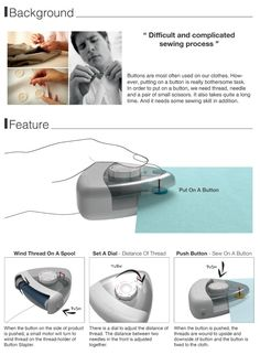 The Button Stapler! No more stitching...