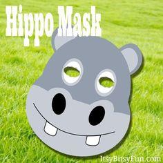 Printable Hippo Mask – Itsy Bitsy Fun